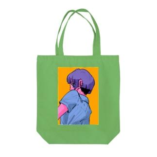 振り向く少年🌈 Tote bags