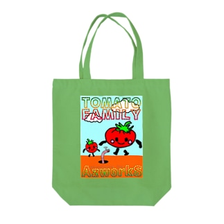トマトファミリー Tote bags