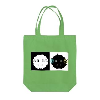 白黒 Tote bags