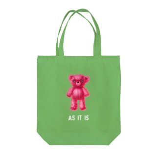 【As it is】(桃くま) w Tote bags