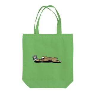 本と、なまけもの Tote bags