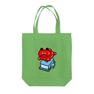 べこちゃんマシーン Tote bags