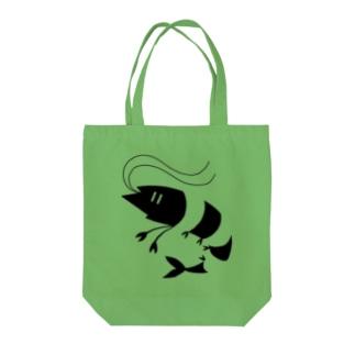 エビ Tote bags