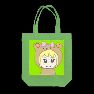 市イラストグッズショップの熊耳娘 Tote bags
