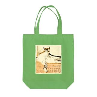 トラ猫マーブル Tote bags