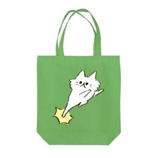 猫キック Tote bags