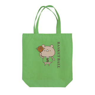 ユウィズのバスケットボールクマ Tote bags