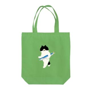盗んだサンマと歩き出す猫 Tote bags