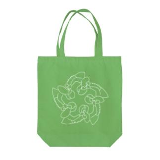 第19夜「人の代用品」(白) Tote bags