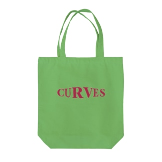 CURVES red Tote bags