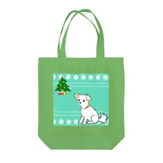 クリスマスわんこさん  Tote bags