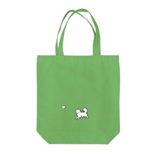 わんことことり おさんぽバッグ(カラーVer.) Tote bags