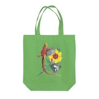 『近景の金鶏に聞けい』 Tote bags