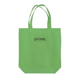 【黒ロゴ】ぐりーんれい Tote bags