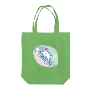 イルカの親子 どるどるふぃん  Tote bags