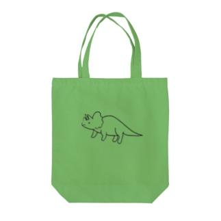 小坂画伯のトリケラトプス Tote bags
