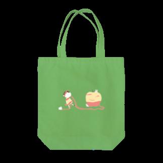 むぎはらのりんごのかわにからまる Tote bags