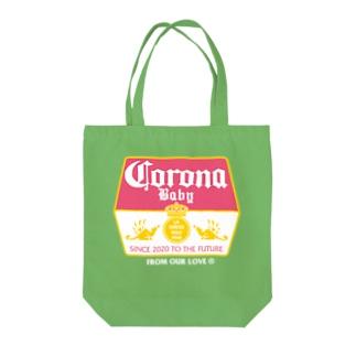 CORONA BABY Tote bags