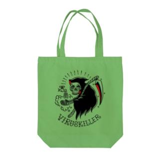 virus killer Tote bags