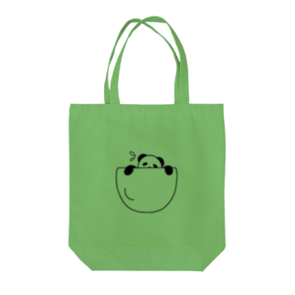 mojimojiの脱出!ポケットパンダさん Tote bags