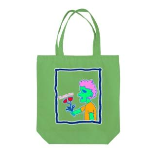 真緑色のアイツ Tote bags