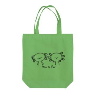 ウーとパー Tote bags