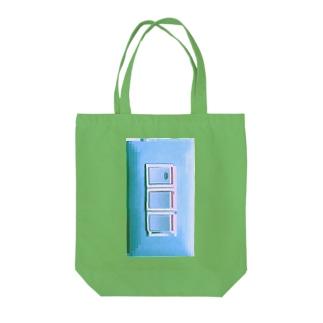 照明スイッチさわやかバグ Tote bags