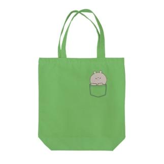 ラブカップルポケット♡くま2 Tote bags