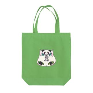 猫パンダ Tote bags