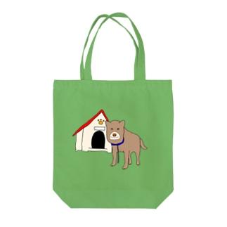 顔が四角い犬🐶 Tote bags