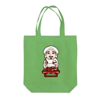 お接待を受けている大黒さん(世界一美味いご飯) Tote bags