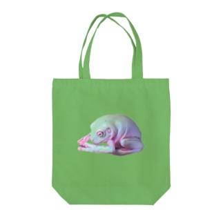 土下座カエル Tote bags