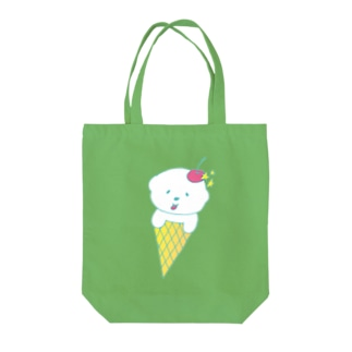 fluffy cream Tote bags