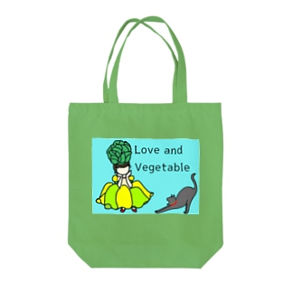 Love and Vegetable♫ Ⅱ Tote bags