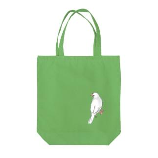 見返り白文鳥 Tote bags