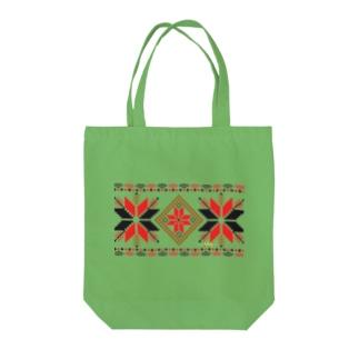 オーナメントスタークラシックパターン Tote bags