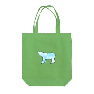 上向きでいこうアニマル クマ Tote bags