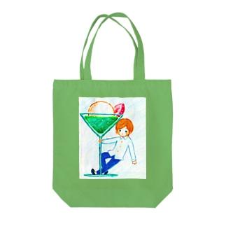 クリームソーダー Tote bags