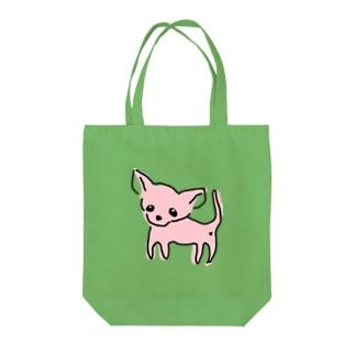 ゆるチワワ(ピンク) Tote bags