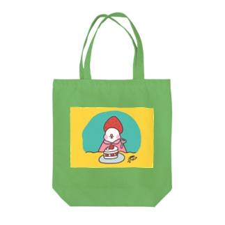 ショートケーキなぶんちゃん Tote bags