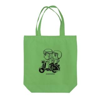 カッパつ野郎(スクーター黒) Tote bags