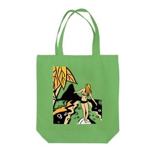 サーファーガール Tote bags