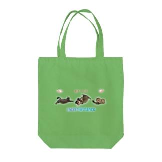 ニャンコ3匹でソーシャルディスタンス😸 Tote bags