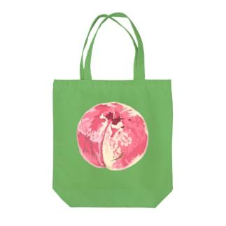 桃 Tote bags
