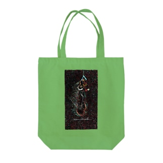 Surfing  on the Milky Way Tote bags