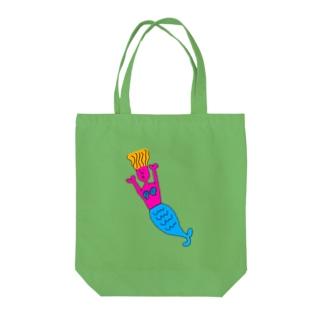 シュールな人魚姫(カラフル) Tote bags