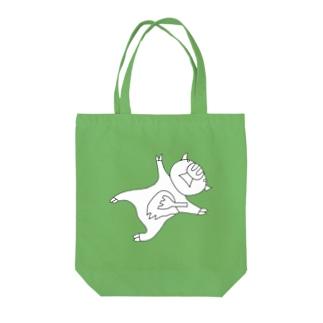 豚人イラストのパンダ武島のポークゆえにフォーク Tote bags