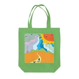 北風と太陽 Tote bags