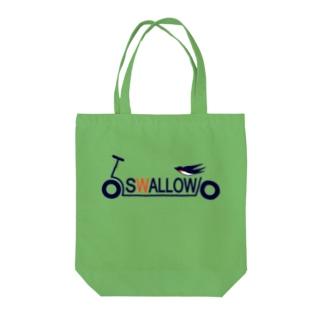キックボード風スワローロゴ Tote bags