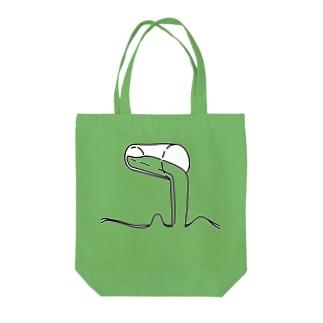 こぼす Tote bags